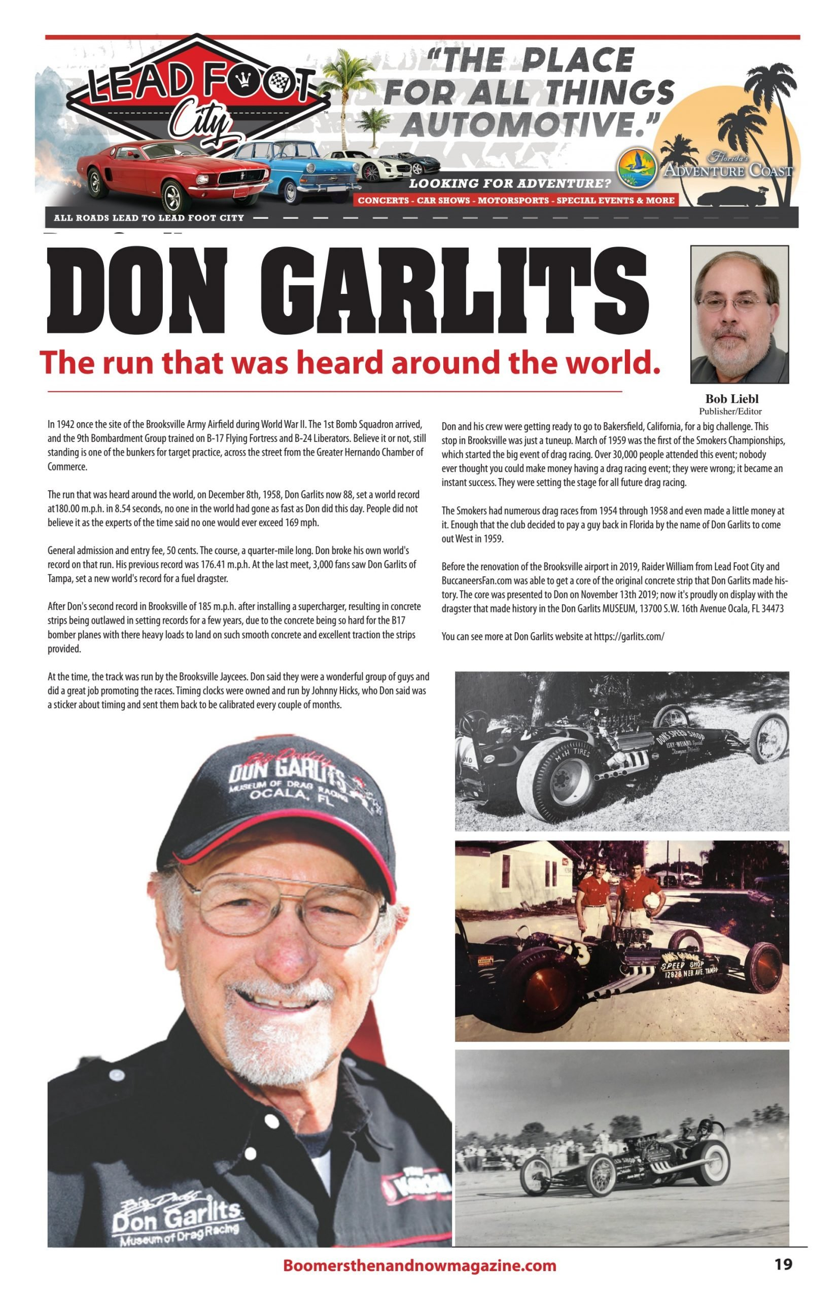 Don Garlits 1958 World Record
